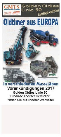 Golden Oldies Linie 50 Kleinprospekt