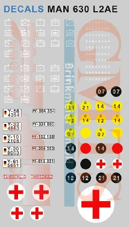 Decalsatz fuer 1:50 Bundeswehr Fahrzeuge