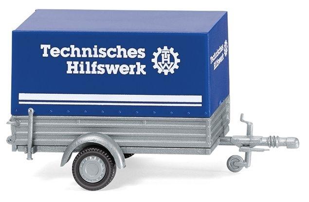 thw pkw anh nger mit plane 1 87 lkw modelle traktoren. Black Bedroom Furniture Sets. Home Design Ideas