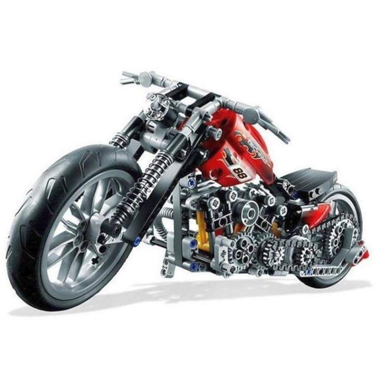Technic Chopper Bausteine Motorrad