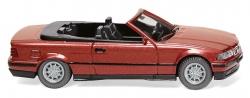 BMW 325i Cabrio, weinrot-metallic  1:87