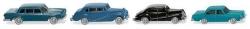 Vier klassische PKW für Spur N  ; 1:160