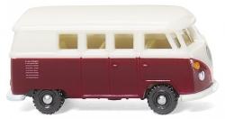 VW T1 Bus - weinrot/weiß 1:160