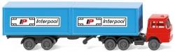Containersattelzug   (Henschel)  1:160