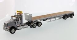 International HX520 Tandem + Flatbed Tra