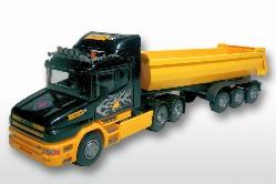 Scania Hauber 6x4/3a. Kippauflieger 1:25