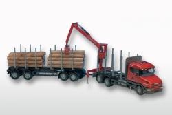 Scania T (Hauber) 6x4 Holzhängerzug 1:25