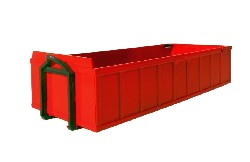 Absetzcontainer niedrig rot 1:25