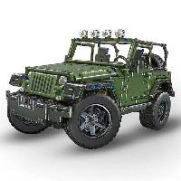 Jeep aus Kunststoff Bausteinen