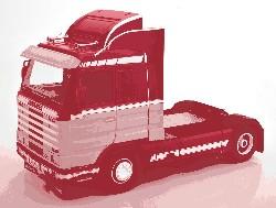Scania 143 Streamline 1995 rot/hell 1:18