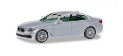 BMW 5er Limousine, glaciersilber 1:87