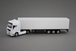 MAN TGX 4x2 white with metal trailer, 1: