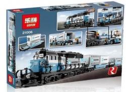 Maersk Güterzug aus Bausteinen