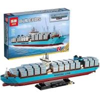 Maersk Containerschiff aus Bausteinen