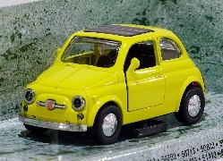 Fiat 500, gelb 1:32