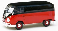 Volkswagen Bulli  T2 rot/schwarz  1:24