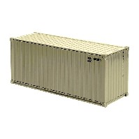 20 Ft See-Container, cremeweiß 1:50
