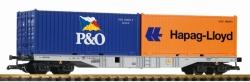 G-Containertragwagen mit 2 Containern DB