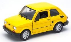 Fiat 126, gelb  1:24