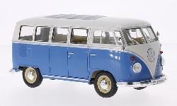 VW T1 Bulli Bus blau/weiß 1963.  1:24