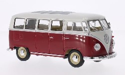 VW T1 Bulli Bus rot/weiß 1963.  1:24
