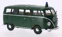 VW T1 Bulli Polizei grün 1962.  1:24