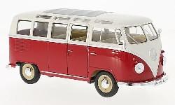 VW T1 Bulli Samba rot/weiß 1963.  1:24