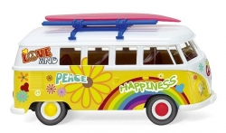 VW T1 Bus Love + Happyness 1:87