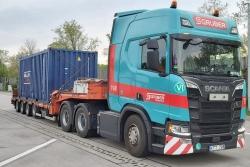 Scania CR20H 6x4 mit Semitieflader 1:50