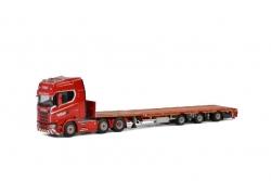 Scania S HL 6x2 m 3achs Flachbetta. 1:50