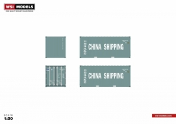40 `` Container, China Shipping; 1:50